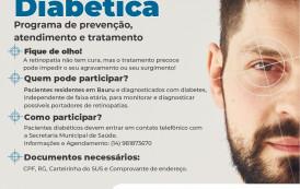 Saúde abre inscrições para o 1º Mutirão de Retinografia para Diabéticos de Bauru