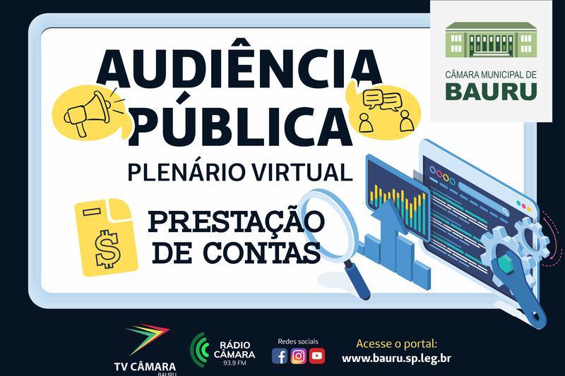 Audiência Pública: Administração Municipal presta contas do 3º Quadrimestre de 2020