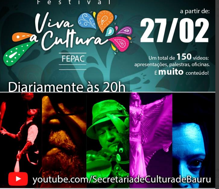 Festival Viva a Cultura FEPAC traz 150 atrações para Bauru
