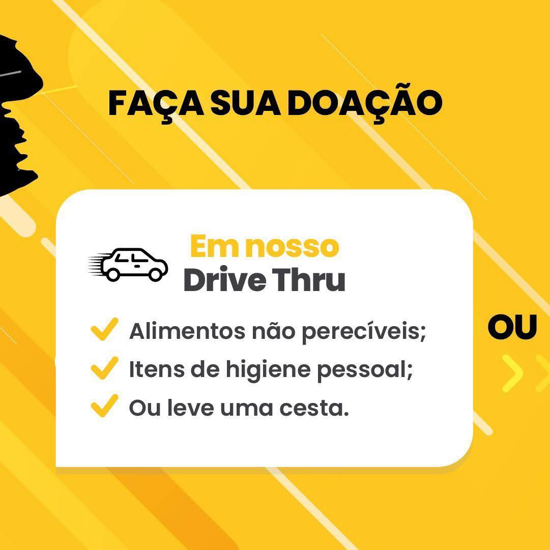 Drive Thru Solidário vai arrecadar alimentos para o Fundo Social neste sábado
