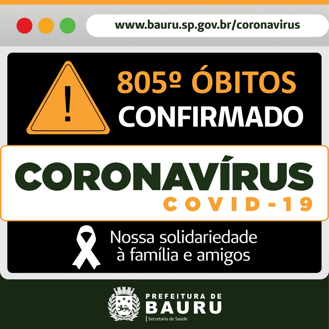 Bauru confirma novos óbitos por Covid-19
