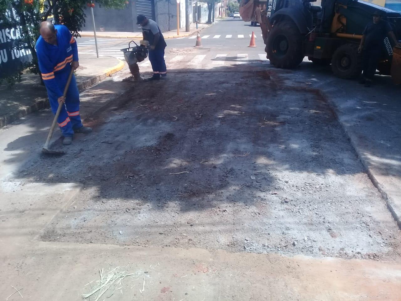 DAE: mutirão para reposição de calçada e reparo de vazamentos para o final de semana