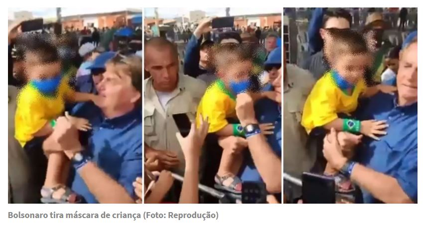 Artigo: A criança que o Bolsonaro tirou a máscara, e sua queda, por Marconi Moura de Lima