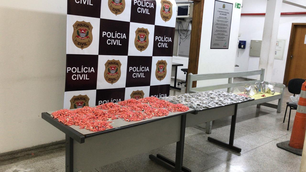 Polícia Civil prende dupla com mais de 3 mil porções de drogas