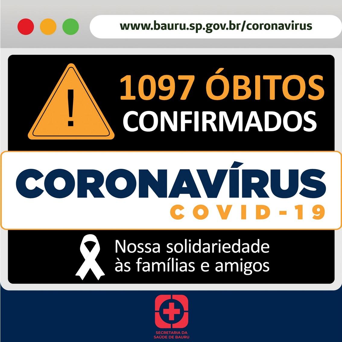 Bauru um óbito pelo coronavírus