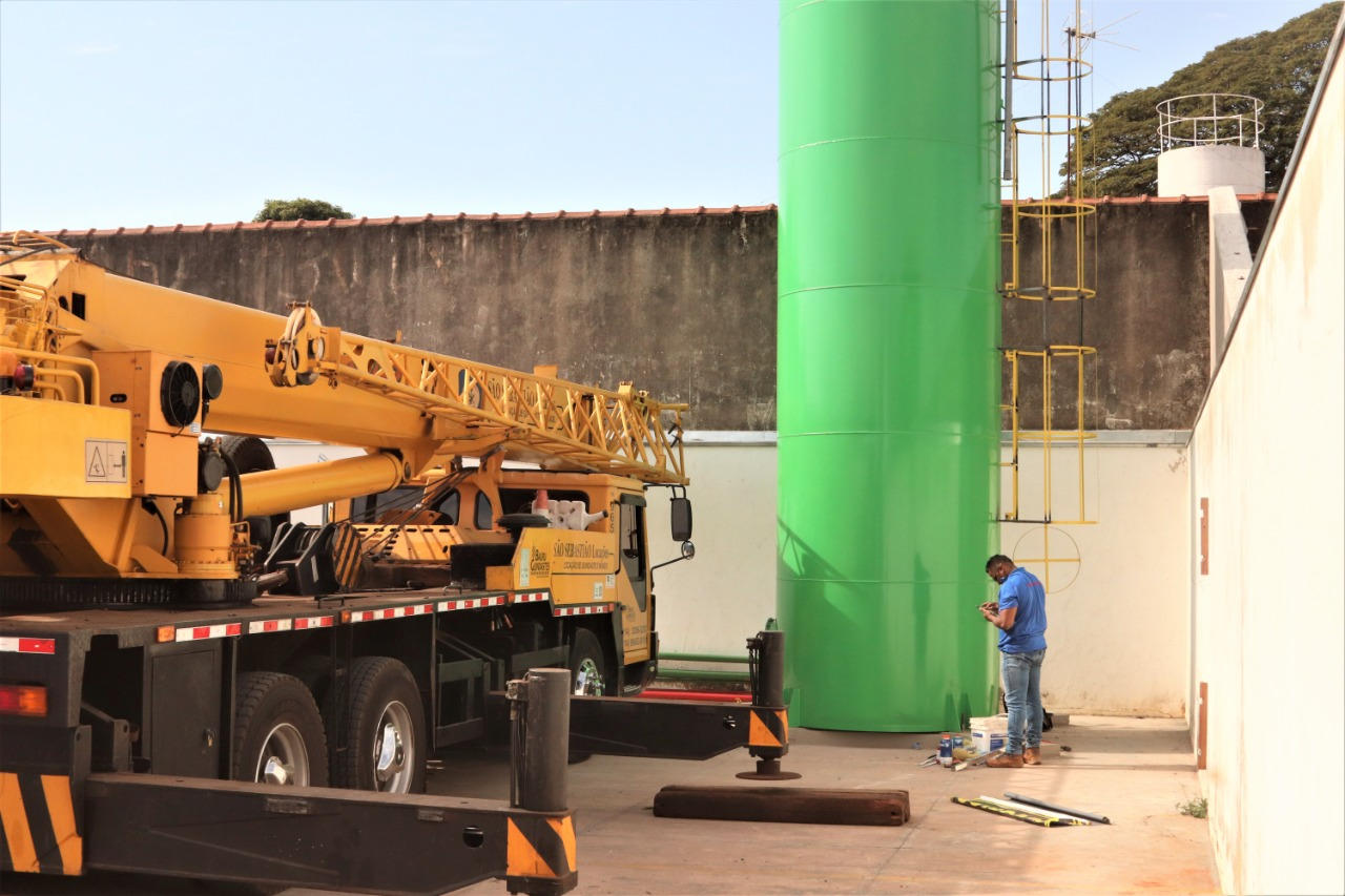 UPA Ipiranga recebe novo reservatório de água
