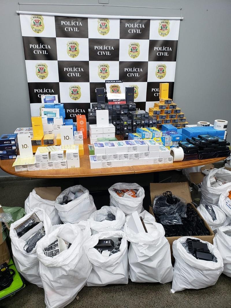 Polícia Civil apreende mais de 600 produtos durante operação para combate à pirataria