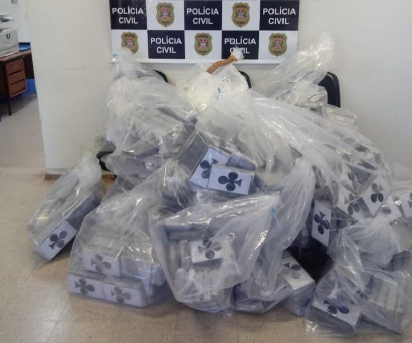 Polícia Civil incinera mais de meia tonelada de cocaína em São Manuel