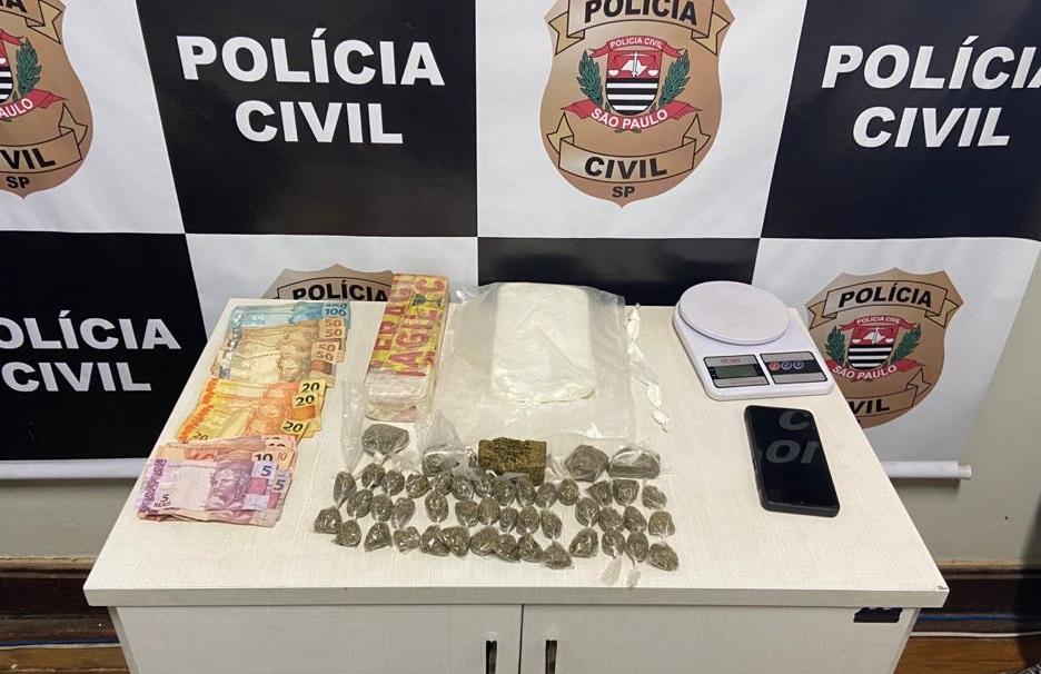 Polícia Civil detém casal com drogas em Pirajuí